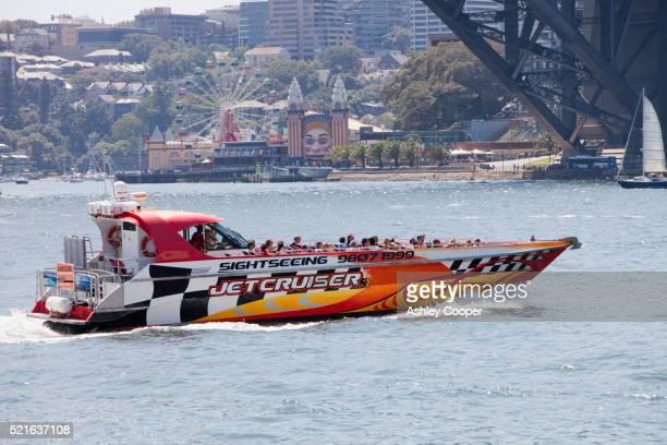tourist boat trip in sydney harbour - sydney ストックフォトと画像