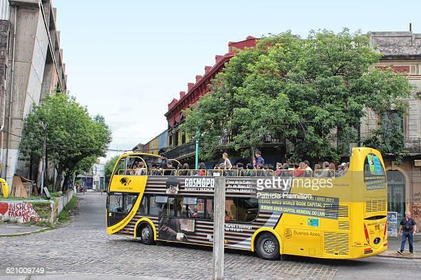 Tourist bus in La Boca Buenos Aires