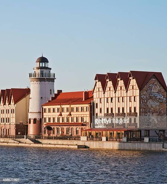 "tourist complex ""fishing village"". russia, kaliningrad region - kaliningrad stock pictures, royalty-free photos & images"