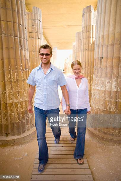 tourist couple in egypt - hugh sitton stock pictures, royalty-free photos & images