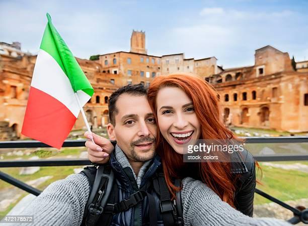 Turisti di coppia in Italia