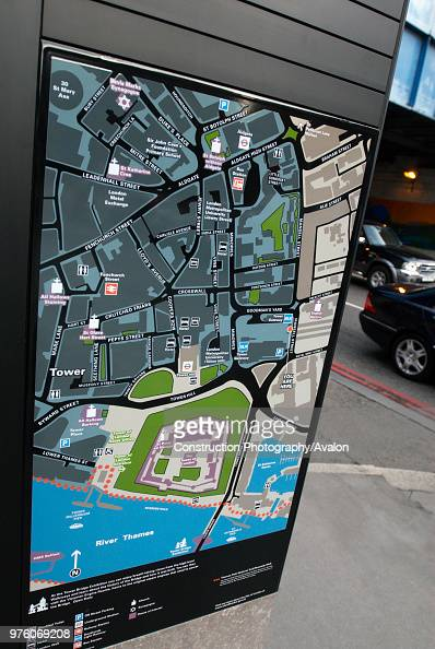 Map Of City Of London Uk.Tourist Display Map In City Of London England Uk News Photo