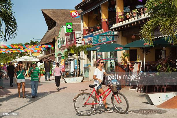 tourist district of playa del carmen in mexico - quintana roo stock pictures, royalty-free photos & images
