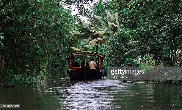 Tourist enjoying backwater of Kerala