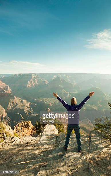 Tourist Enjoying Grand Canyon National Park South Rim Vt