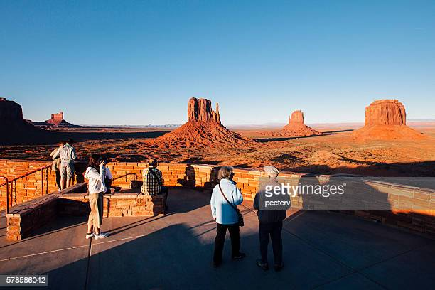 Tourist enjoying the view of Monument Valley.