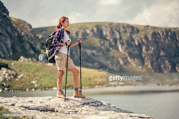 Tourist enjoying the view