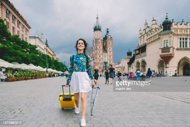 tourist exploring the best of europe - poland stock pictures, royalty-free photos & images