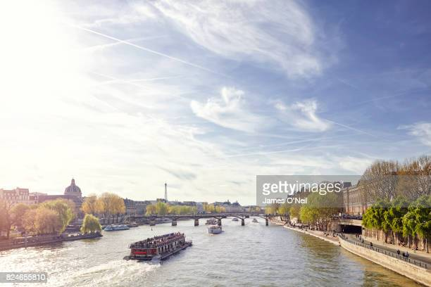 Tourist ferry on the River Seine, Paris, France