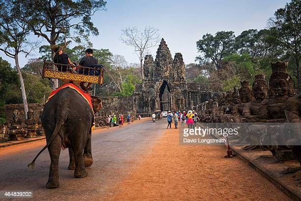 Tourist gather to outside the south gate of Bayon temple Saturday Feb 14 2015 A stable Cambodia has meant that each year since records were kept in...