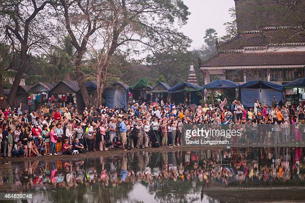 Tourist gather to watch the sunrise at Angkor Wat complex Saturday Feb 14 2015 A stable Cambodia has meant that each year since records were kept in...