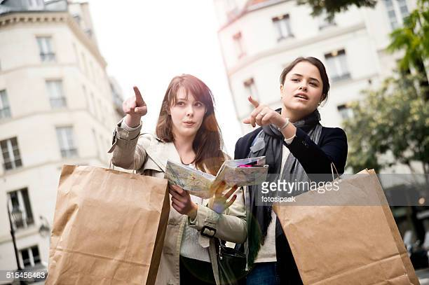 tourist Mädchen in paris