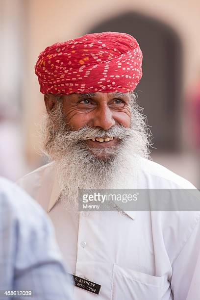 tourist guide jaipur india portrait - mlenny stock pictures, royalty-free photos & images