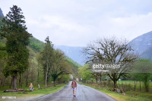 tourist hiking in scenic area - cliqueimages stock pictures, royalty-free photos & images