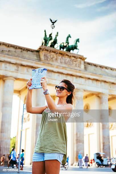 観光名所を探しにマップし、ブランデンブルグ門、ベルリン