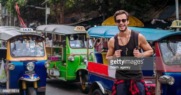 Tourist in Asia having fun