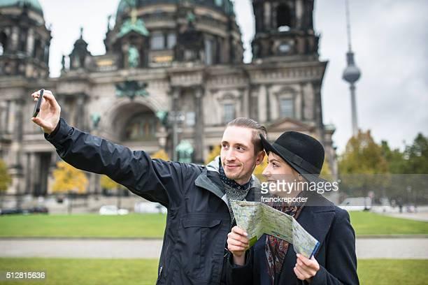 Tourist in Berlin eine selfie