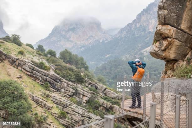 Tourist in Caminito del Ray