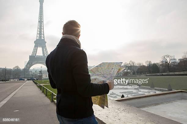 観光でパリ-エッフェル塔リーティングマップ
