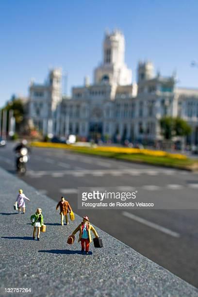 Tourist in street
