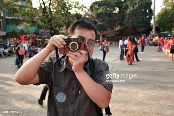Tourist in Tae Pae Square