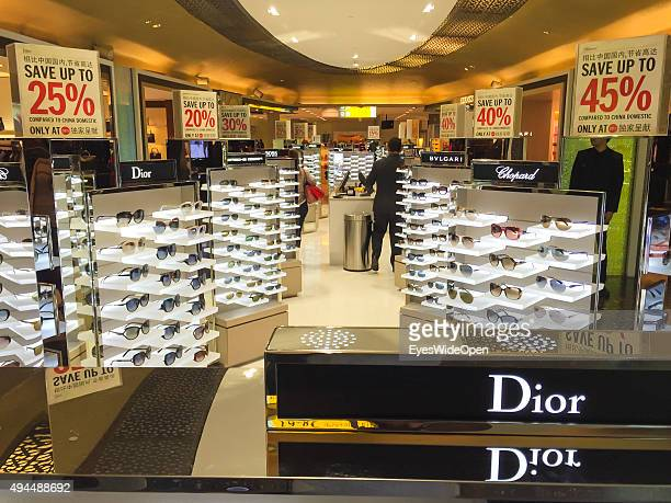 Tourist in the duty free shopping area at International Airport Abu Dhabi on September 22 2015 in Abu Dhabi United Arab Emirates