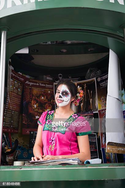 Tourist information booth in Oaxaca, Mexico