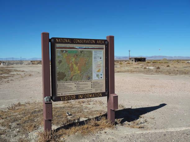 Tourist Information Panel At Sulphur Ghost Town, Nevada