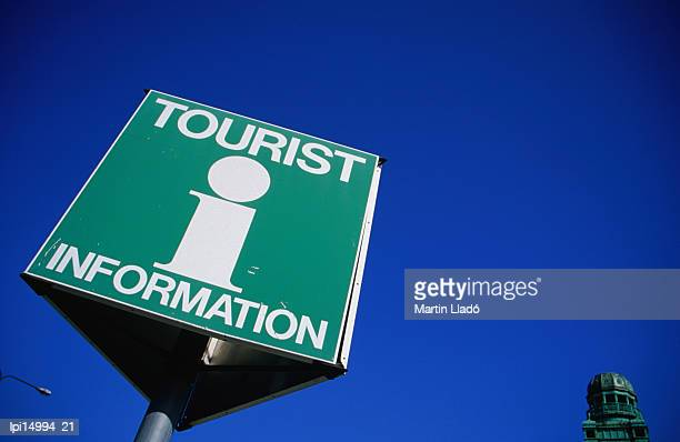 Tourist information sign at Malmo Train Station, Malmo, Skane, Sweden, Europe