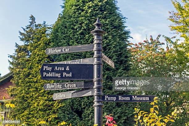 tourist information sign, harrogate - harrogate stock pictures, royalty-free photos & images