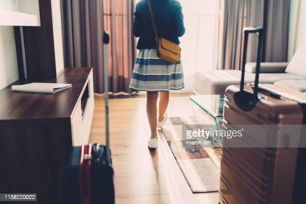 tourist just arriving in luxury hotel - hotel stock pictures, royalty-free photos & images