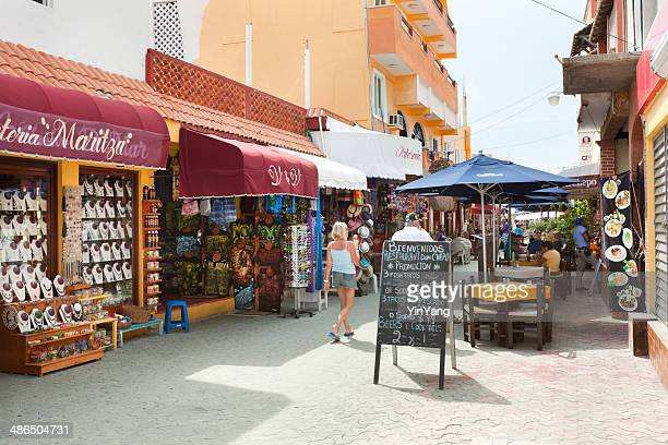 tourist market street hidalgo in isla mujeres by cancun, mexico - quintana roo stock pictures, royalty-free photos & images