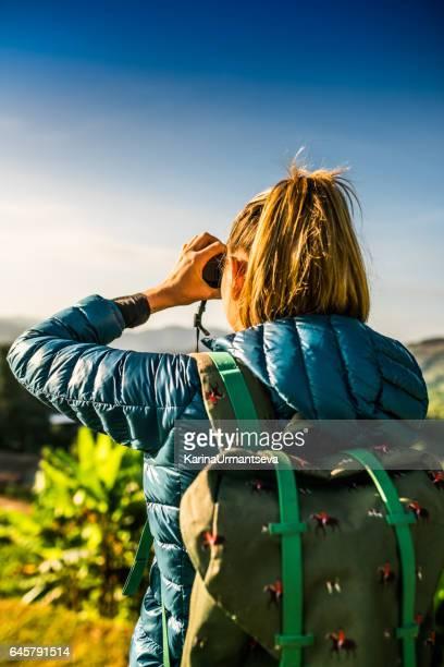 Tourist on the tea plantations