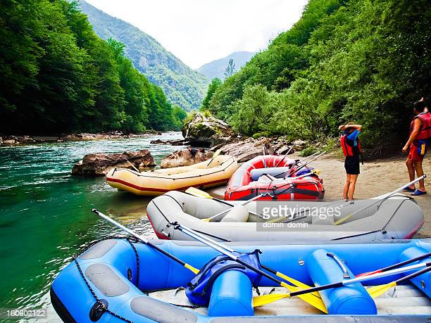 Tourist auf white water rafting on Tara River Canyon, Montenegro