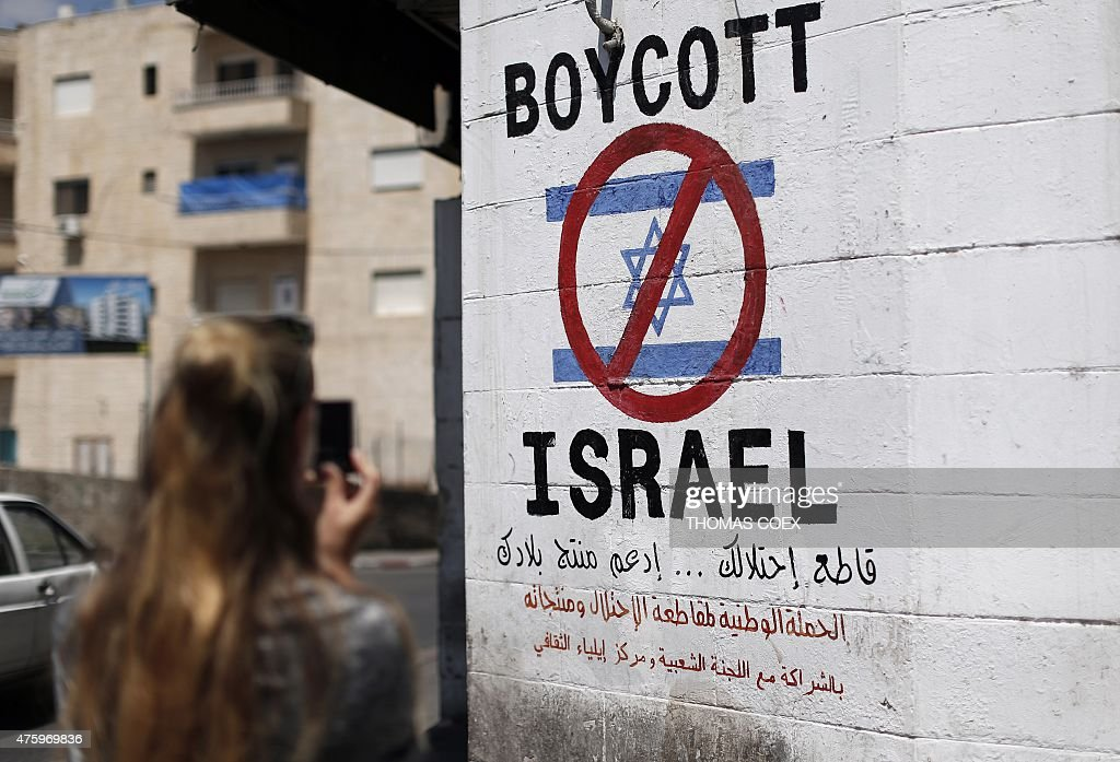 PALESTINIAN-ISRAEL-CONFLICT-BOYCOTT : News Photo