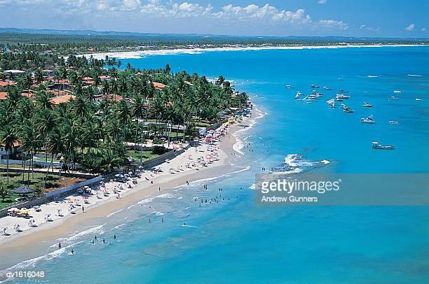 tourist resort of porto galinhas, pernambucco, brazil - porto galinhas stock photos and pictures