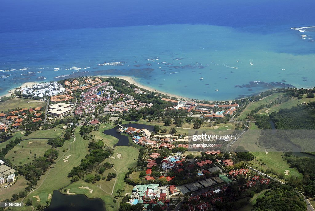 Tourist resort- view from the sky : Stock Photo