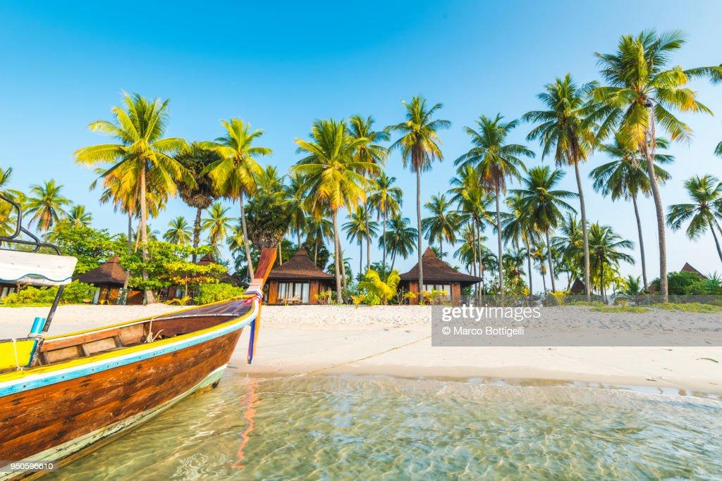 Tourist resort's bungalows on the beach, Ko Mook, Thailand : Photo