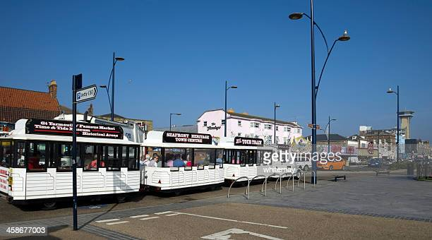 Tourist road train on Great Yarmouth seafront