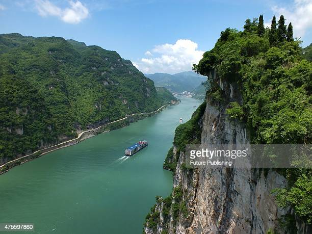 A tourist ship is seen sailing in the Yangtze River on May 08 2015 in Yichang China 458 people mostly elderly tourists were aboard the Eastern Star a...