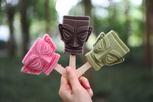 CHN: Bronze Mask-Shaped Ice Pops In Guanghan