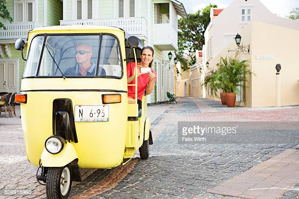 tourist sightseeing from tuk tuk - auto rickshaw stock pictures, royalty-free photos & images