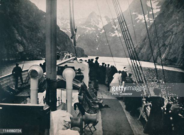 Tourist Steamer in Trold Fjord' 1914 Trollfjord in Hadsel Nordland Norway is a popular tourist attraction only accessible by boat From Norge...