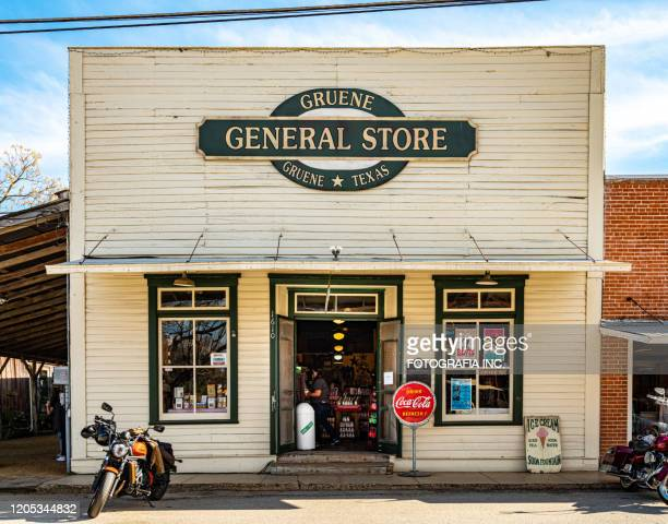 tourist store at town of gruene, texas - gift shop stock pictures, royalty-free photos & images