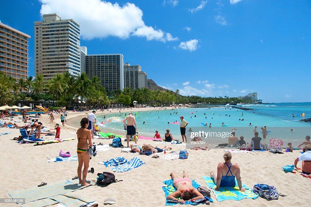 Surfing On Waikiki Beach Hawaii Oahu