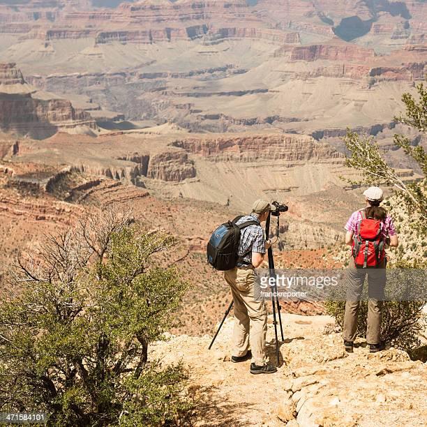 Touristen Nehmen Sie ein Foto in der grand canyon national park