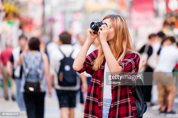 Tourist taking a photo