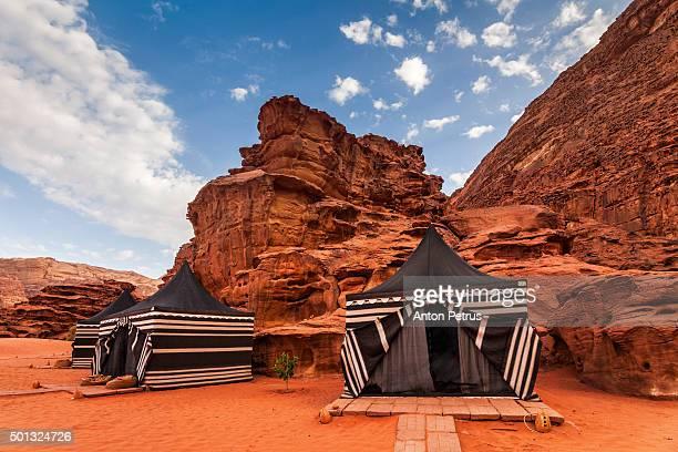 Tourist tents in Wadi Rum dessert, Jordan