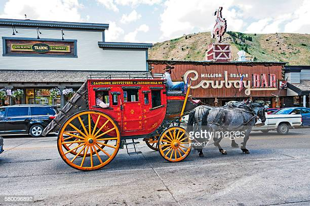 tourist views of jackson hole wyoming - jackson hole stock pictures, royalty-free photos & images