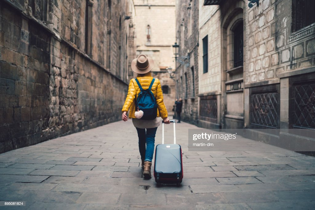 Tourist visiting Spain : Foto stock